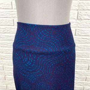 LuLaRoe Skirts - LuLaRoe Blue Purple Cassie Midi Skirt